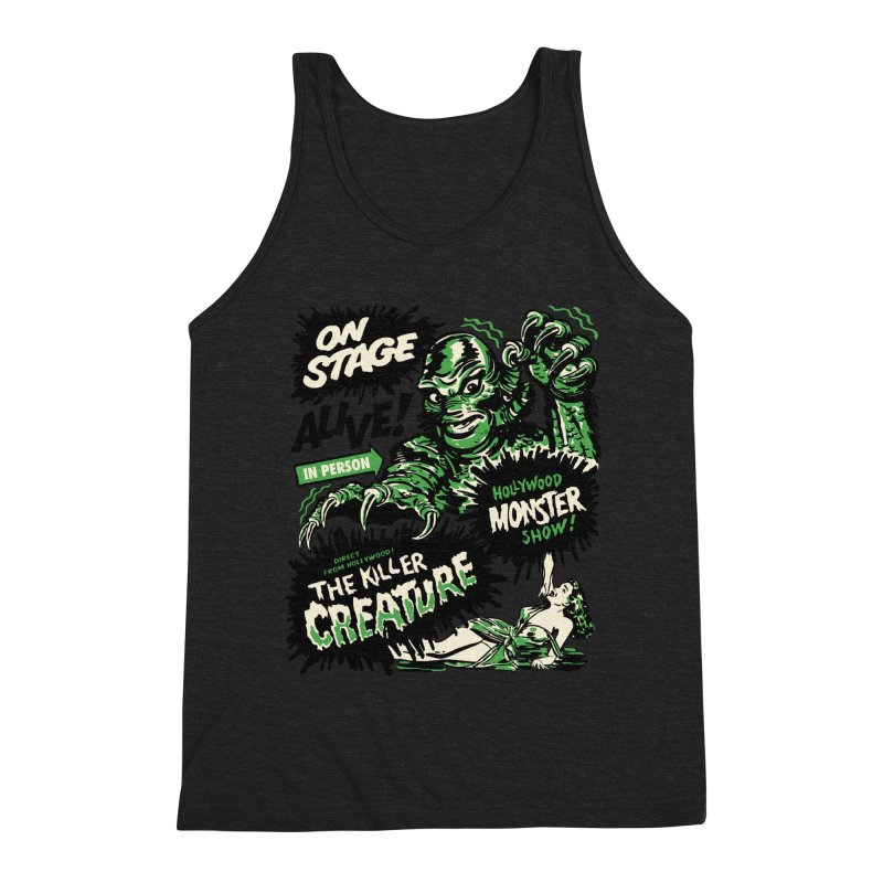 The Killer Creature Men's Triblend Tank by mostro's Artist Shop