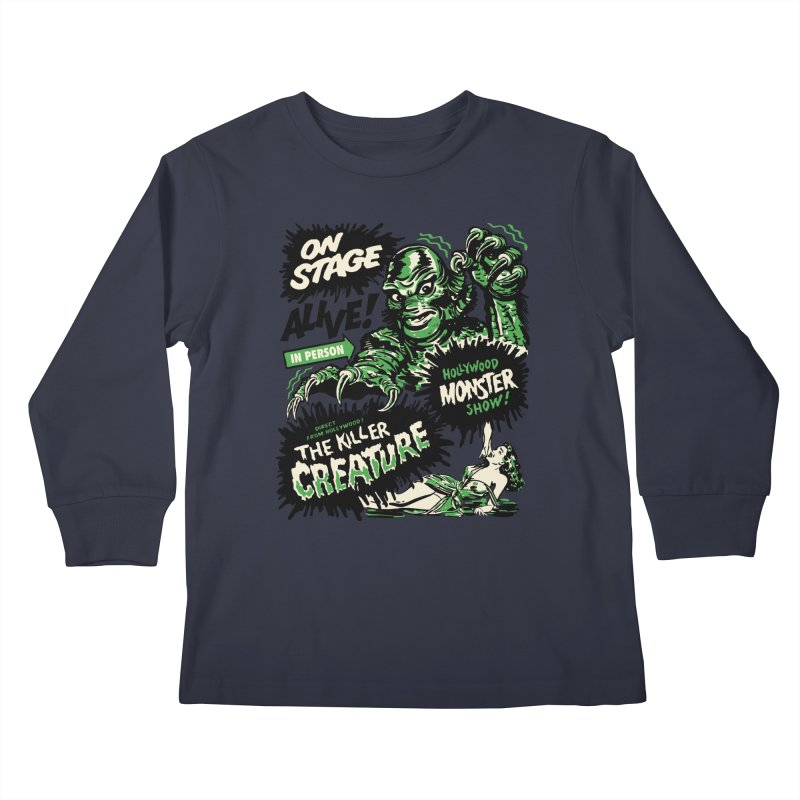 The Killer Creature Kids Longsleeve T-Shirt by mostro's Artist Shop