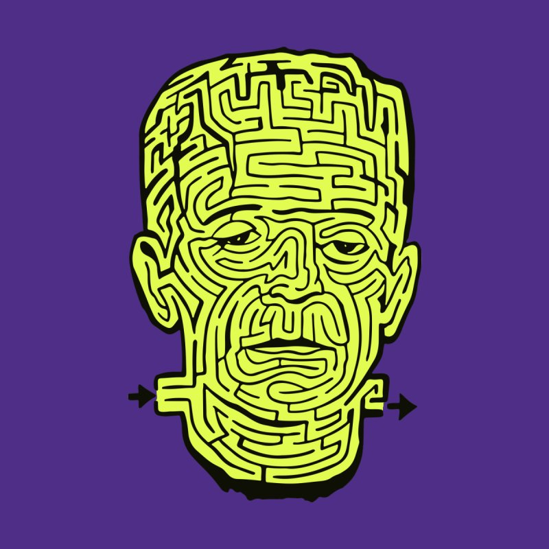 The Frankenmaze Men's T-Shirt by mostro's Artist Shop