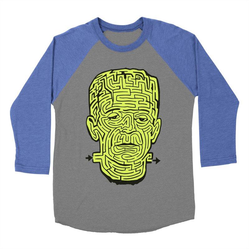 The Frankenmaze Men's Baseball Triblend Longsleeve T-Shirt by mostro's Artist Shop