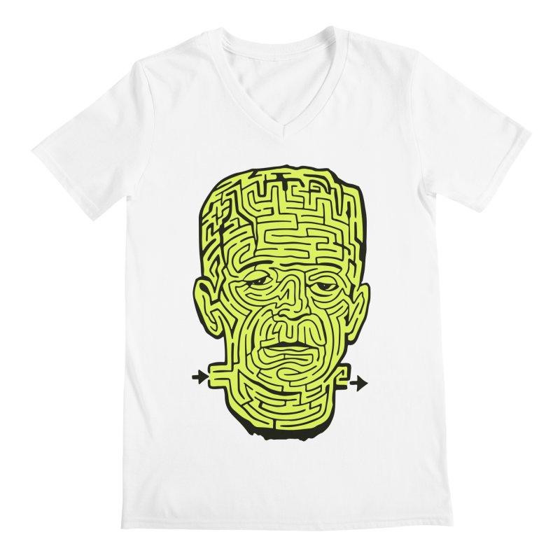 The Frankenmaze Men's Regular V-Neck by mostro's Artist Shop