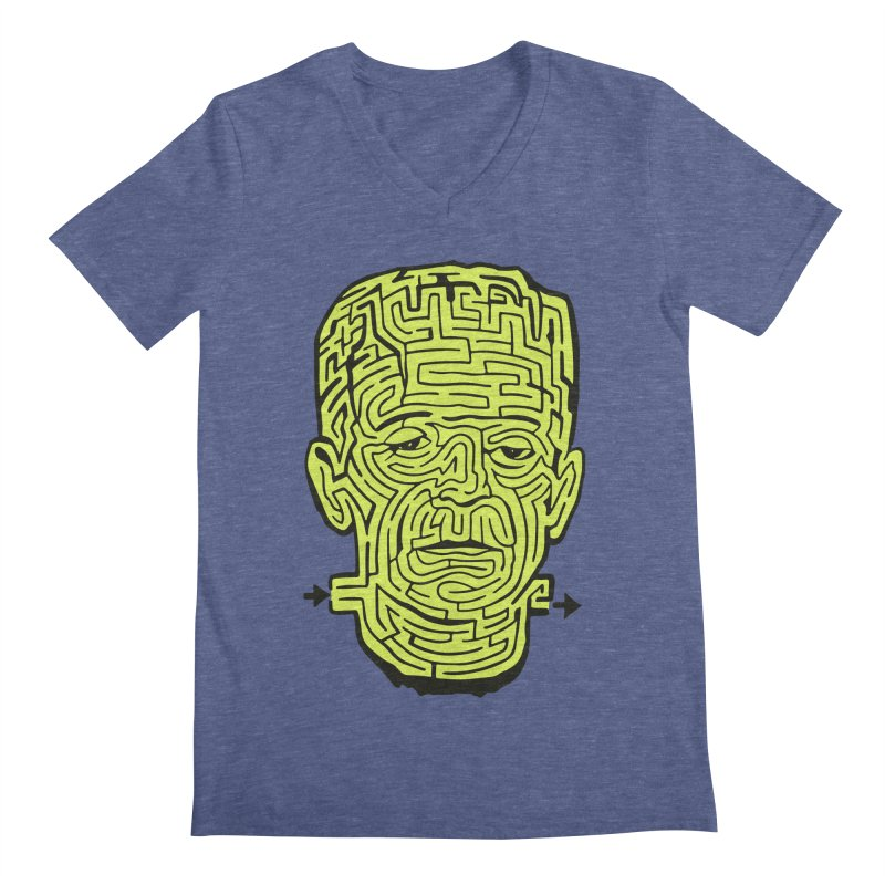 The Frankenmaze Men's V-Neck by mostro's Artist Shop