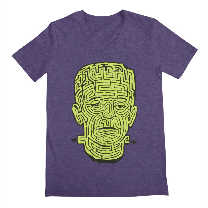 The Frankenmaze Men's Regular V-Neck by mostro's Artist Shop