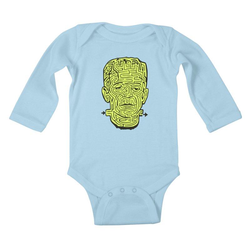 The Frankenmaze Kids Baby Longsleeve Bodysuit by mostro's Artist Shop