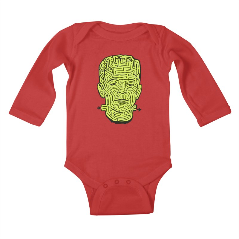 The Frankenmaze Kids Baby Longsleeve Bodysuit by mostro's Artist Shop