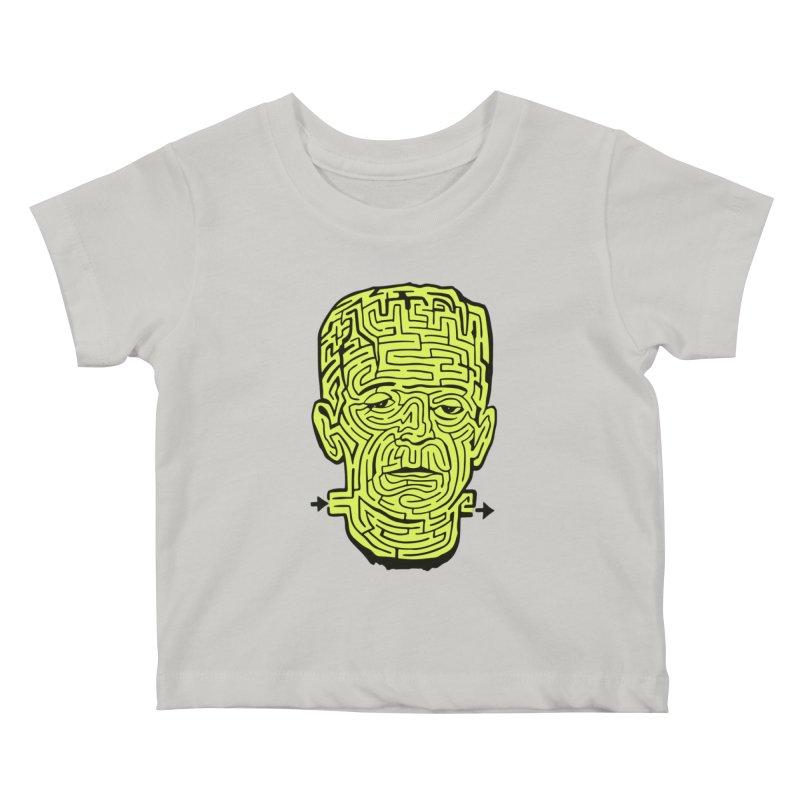 The Frankenmaze Kids Baby T-Shirt by mostro's Artist Shop