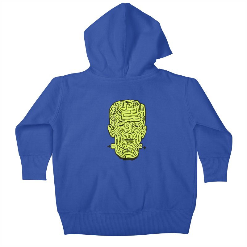 The Frankenmaze Kids Baby Zip-Up Hoody by mostro's Artist Shop