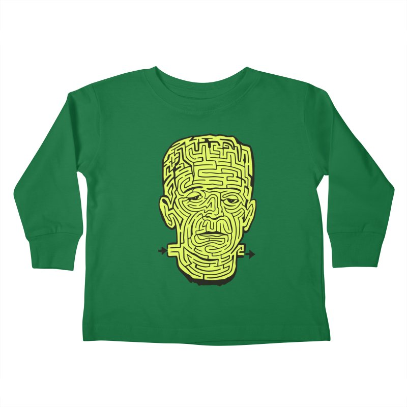 The Frankenmaze Kids Toddler Longsleeve T-Shirt by mostro's Artist Shop