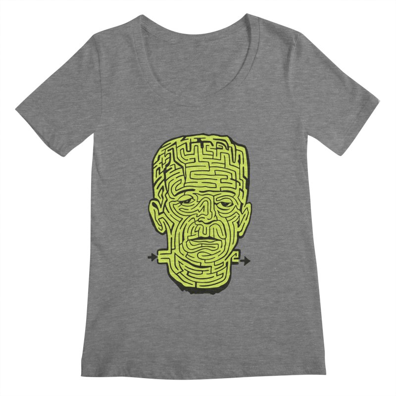 The Frankenmaze Women's Scoopneck by mostro's Artist Shop