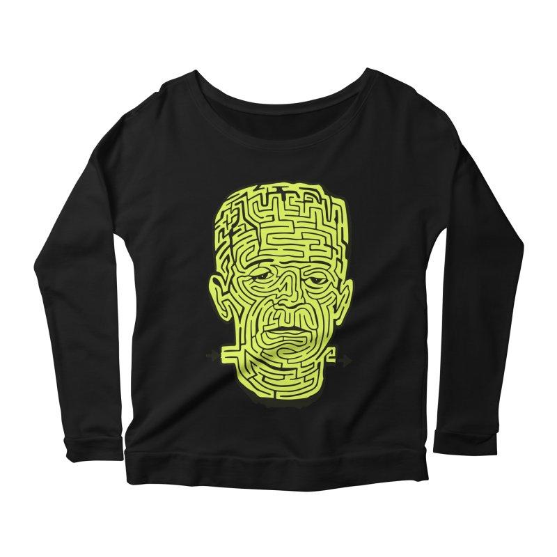 The Frankenmaze Women's Scoop Neck Longsleeve T-Shirt by mostro's Artist Shop