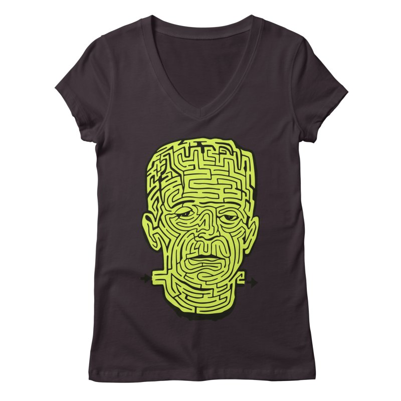The Frankenmaze Women's Regular V-Neck by mostro's Artist Shop