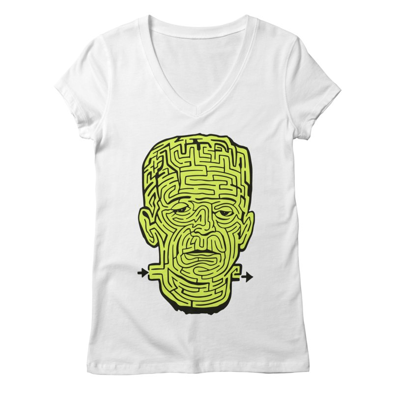The Frankenmaze Women's V-Neck by mostro's Artist Shop