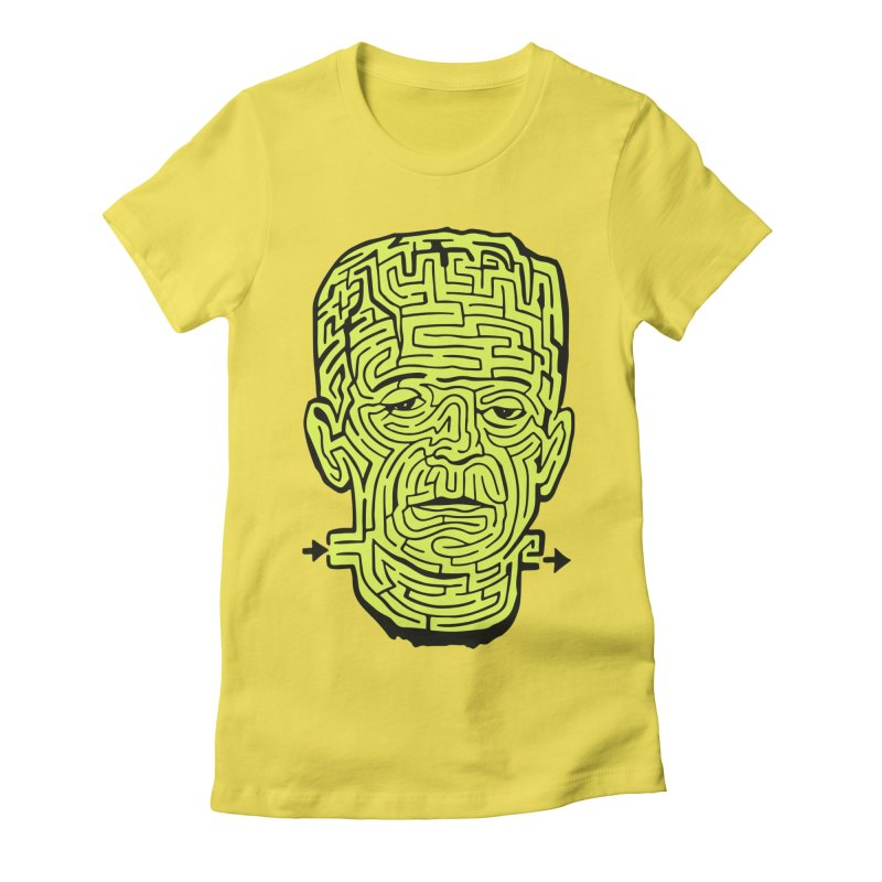 The Frankenmaze Women's Fitted T-Shirt by mostro's Artist Shop