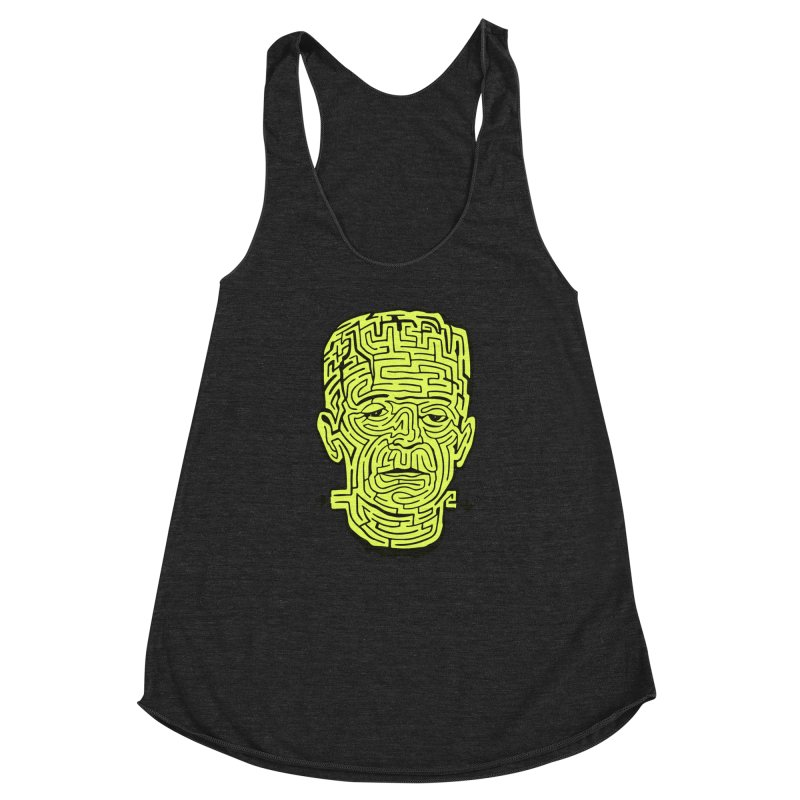 The Frankenmaze Women's Racerback Triblend Tank by mostro's Artist Shop