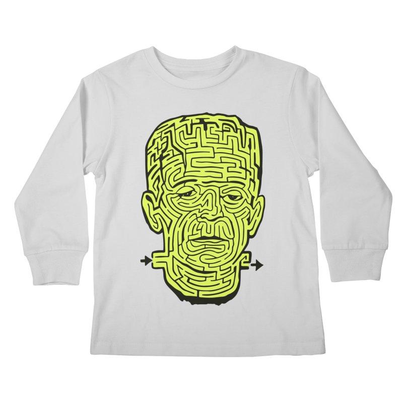 The Frankenmaze Kids Longsleeve T-Shirt by mostro's Artist Shop