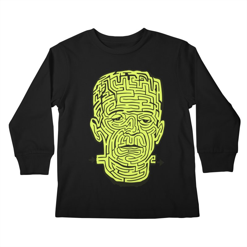 The Frankenmaze Kids Longsleeve T-Shirt by mostro's Artist Shop