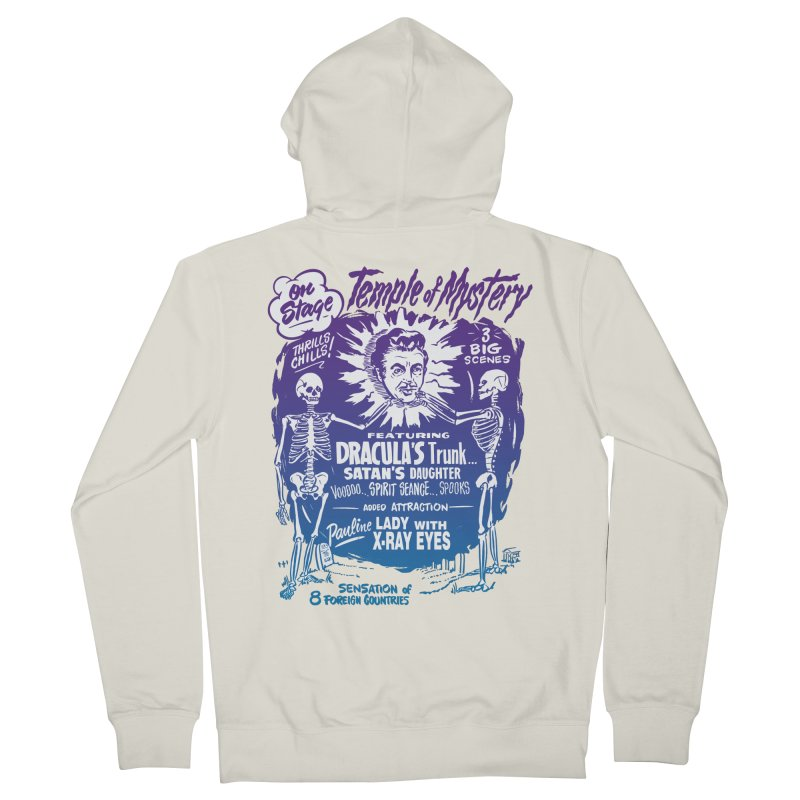 Temple of Mystery Women's French Terry Zip-Up Hoody by mostro's Artist Shop