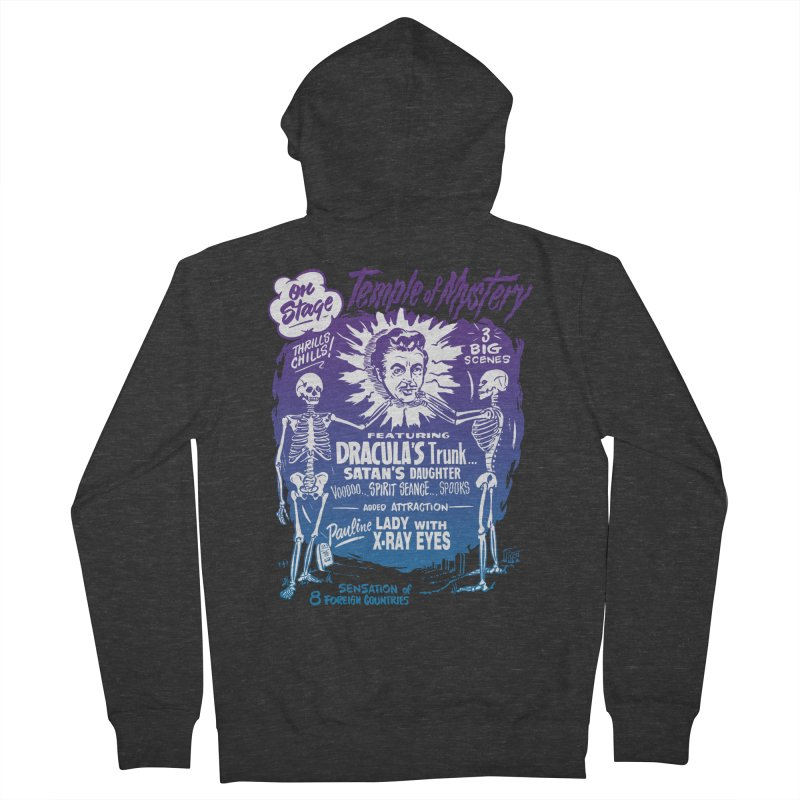 Temple of Mystery Men's French Terry Zip-Up Hoody by mostro's Artist Shop