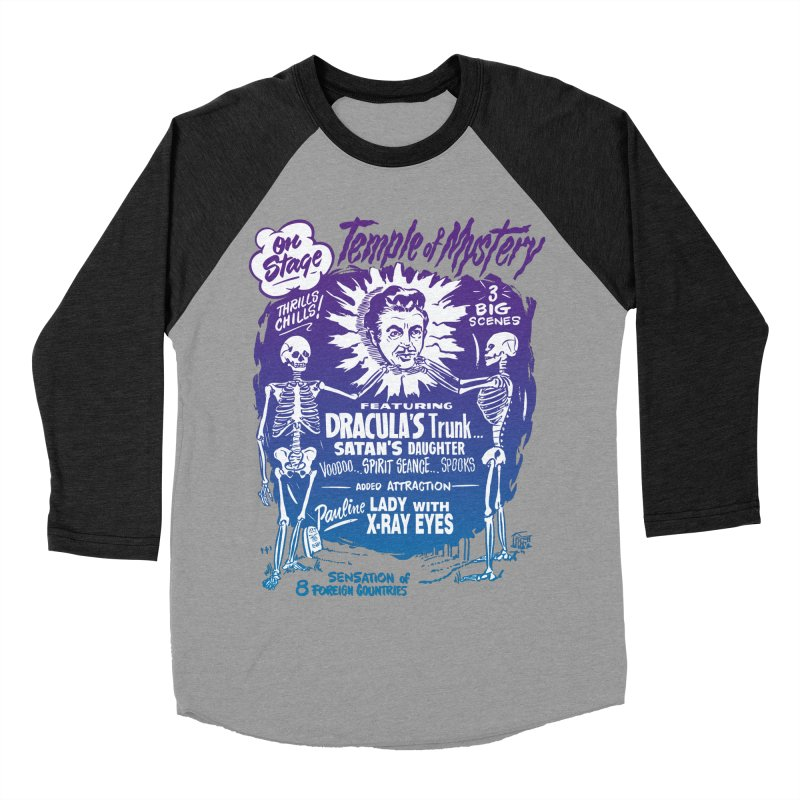 Temple of Mystery Men's Baseball Triblend Longsleeve T-Shirt by mostro's Artist Shop