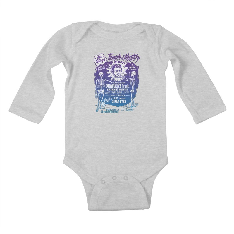 Temple of Mystery Kids Baby Longsleeve Bodysuit by mostro's Artist Shop
