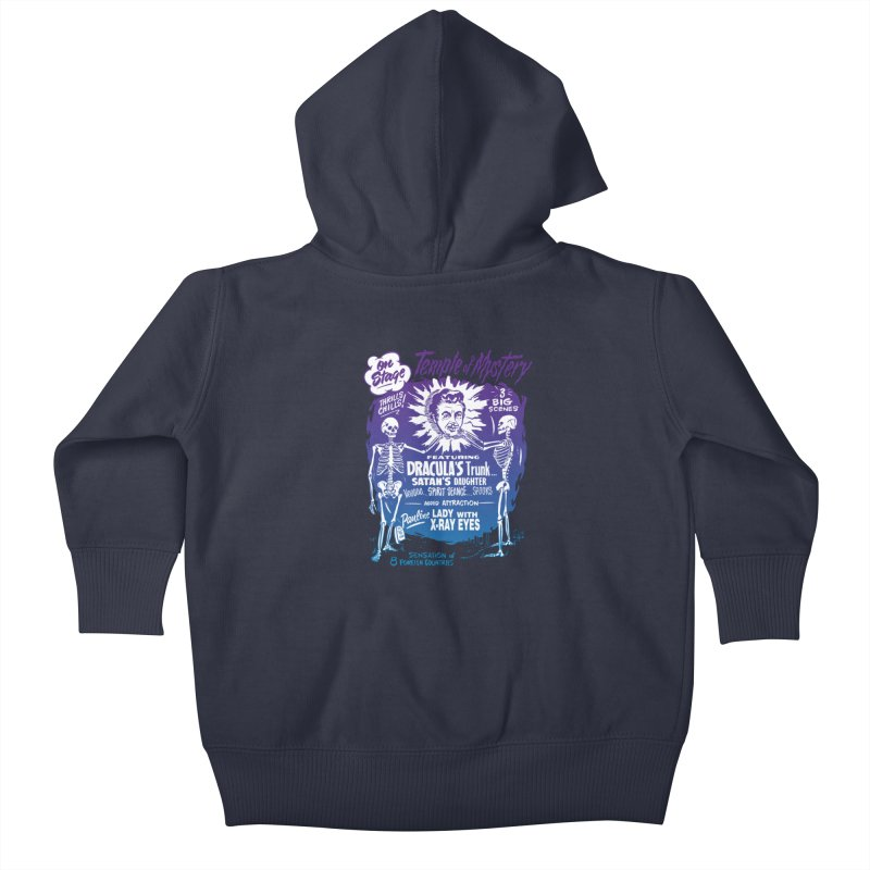 Temple of Mystery Kids Baby Zip-Up Hoody by mostro's Artist Shop