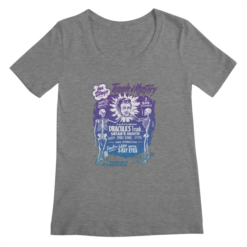 Temple of Mystery Women's Scoopneck by mostro's Artist Shop