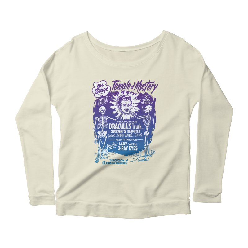Temple of Mystery Women's Scoop Neck Longsleeve T-Shirt by mostro's Artist Shop
