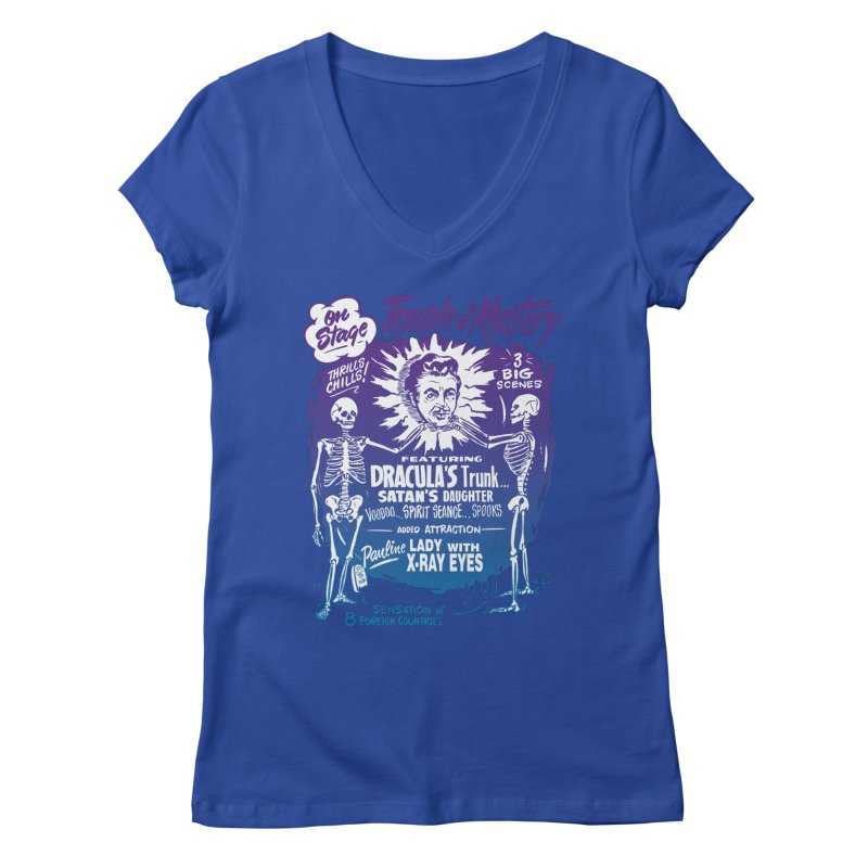Temple of Mystery Women's V-Neck by mostro's Artist Shop