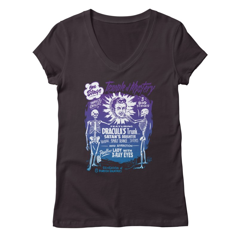 Temple of Mystery Women's Regular V-Neck by mostro's Artist Shop