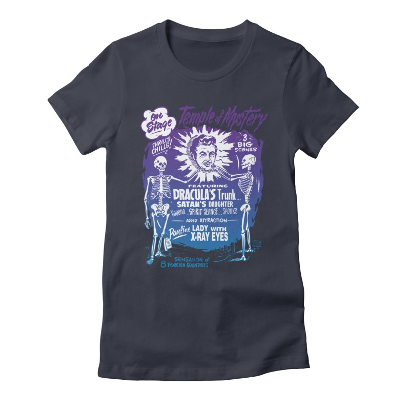 Temple of Mystery Women's Fitted T-Shirt by mostro's Artist Shop