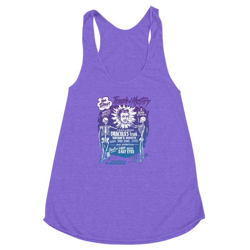 Temple of Mystery Women's Racerback Triblend Tank by mostro's Artist Shop