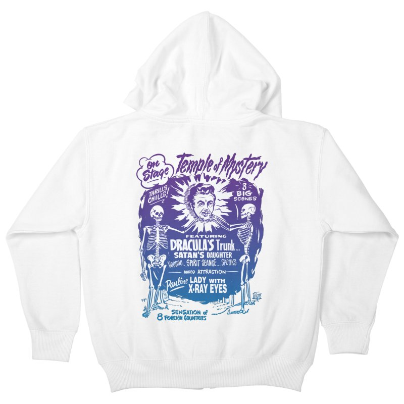 Temple of Mystery Kids Zip-Up Hoody by mostro's Artist Shop