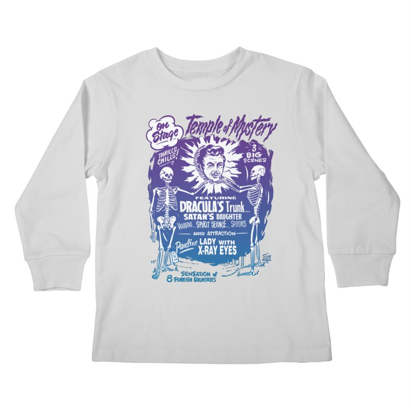 Temple of Mystery Kids Longsleeve T-Shirt by mostro's Artist Shop
