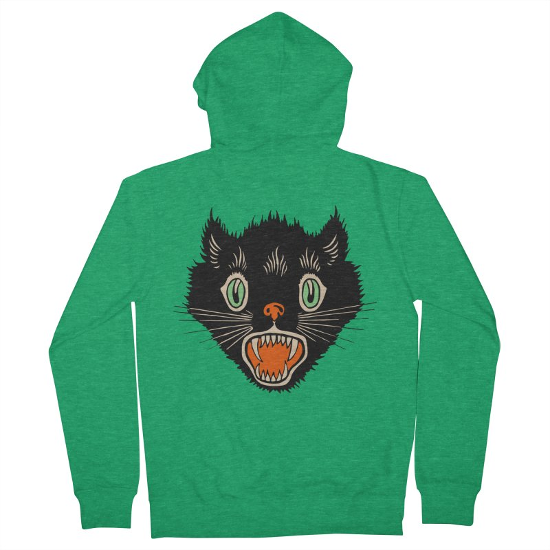 The Evil Cucumber Scared my Cat Women's Zip-Up Hoody by mostro's Artist Shop