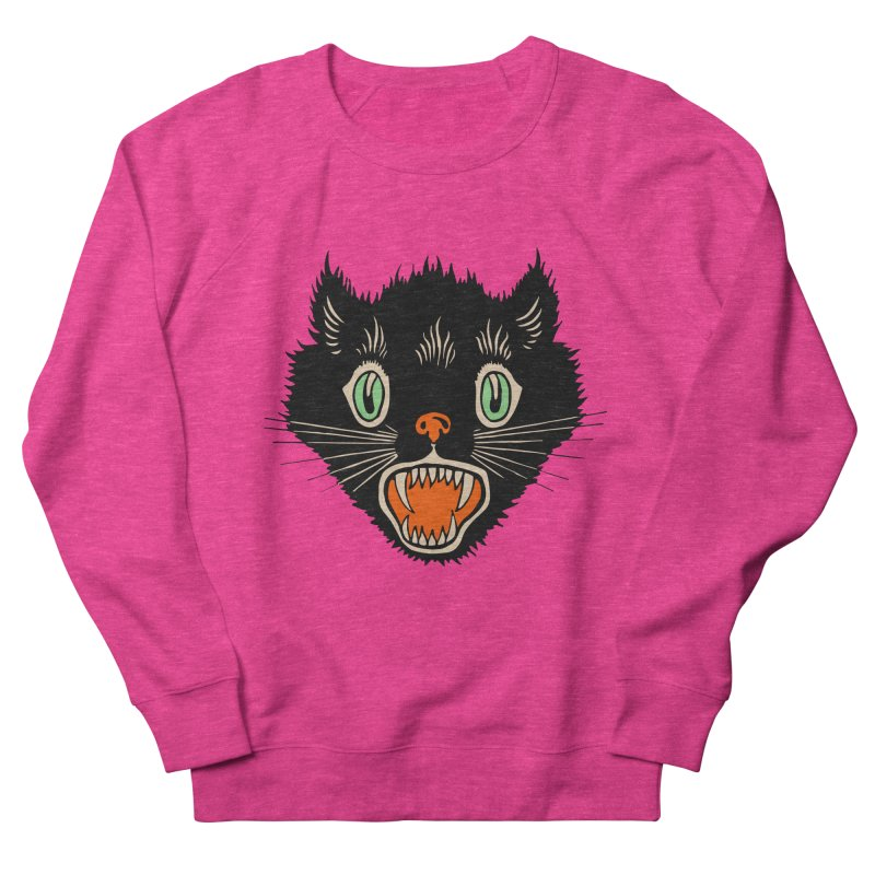 The Evil Cucumber Scared my Cat Women's French Terry Sweatshirt by mostro's Artist Shop