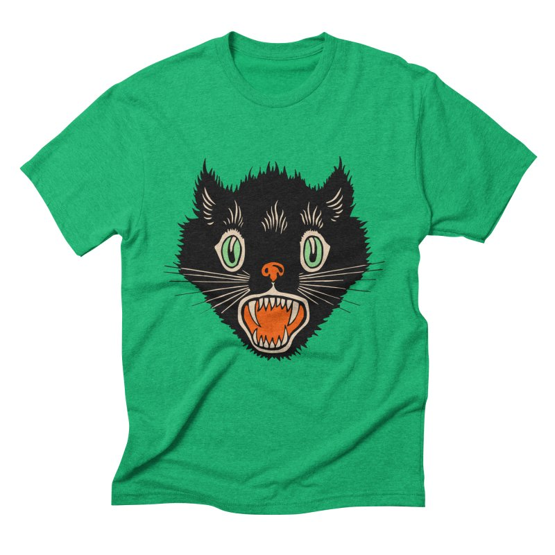 The Evil Cucumber Scared my Cat Men's Triblend T-shirt by mostro's Artist Shop