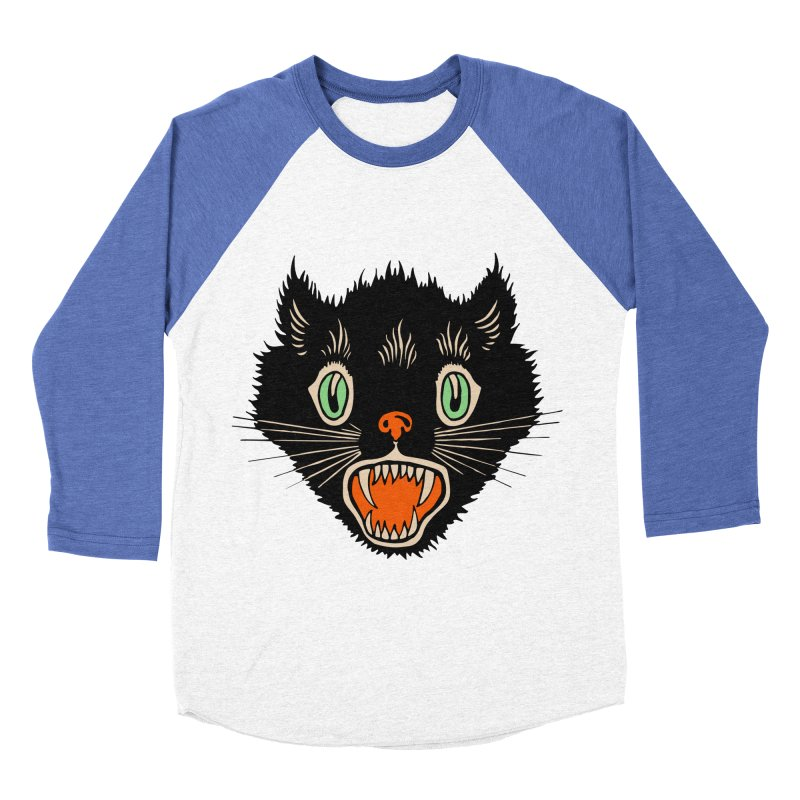 The Evil Cucumber Scared my Cat Women's Baseball Triblend Longsleeve T-Shirt by mostro's Artist Shop