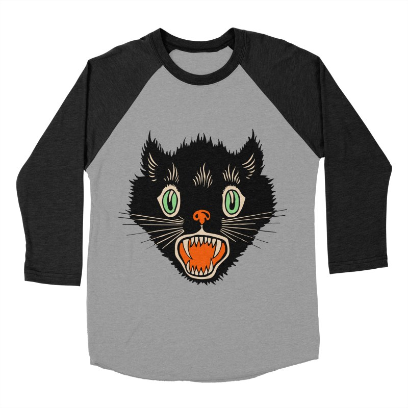 The Evil Cucumber Scared my Cat Women's Baseball Triblend T-Shirt by mostro's Artist Shop