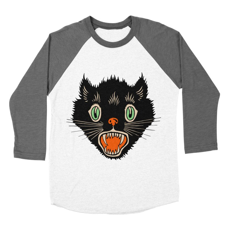 The Evil Cucumber Scared my Cat Men's Baseball Triblend Longsleeve T-Shirt by mostro's Artist Shop
