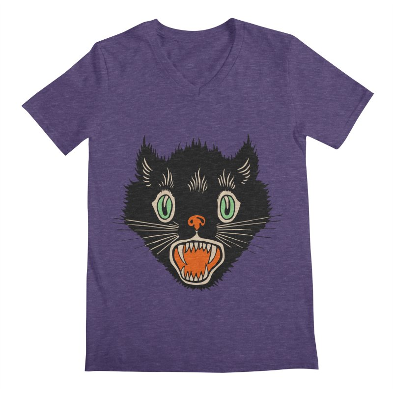 The Evil Cucumber Scared my Cat Men's V-Neck by mostro's Artist Shop