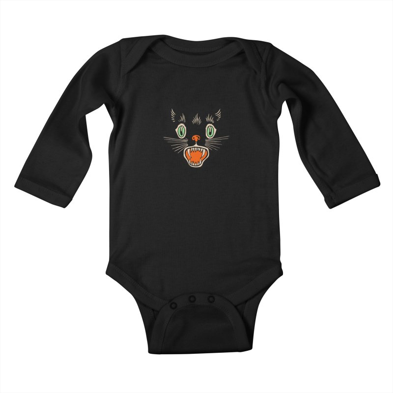 The Evil Cucumber Scared my Cat Kids Baby Longsleeve Bodysuit by mostro's Artist Shop