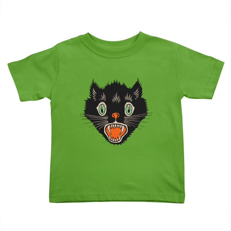 The Evil Cucumber Scared my Cat Kids Toddler T-Shirt by mostro's Artist Shop