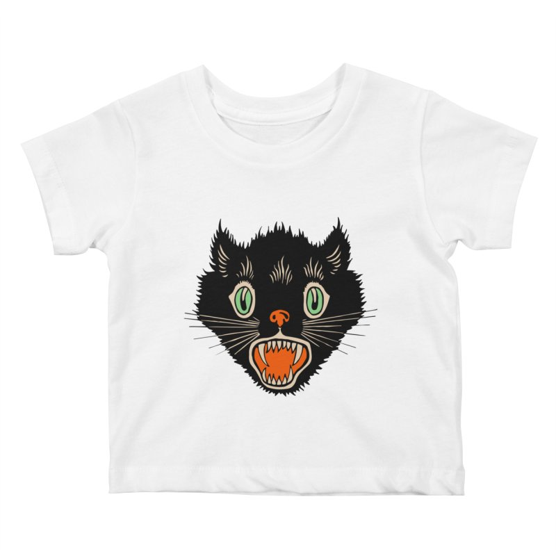 The Evil Cucumber Scared my Cat Kids Baby T-Shirt by mostro's Artist Shop