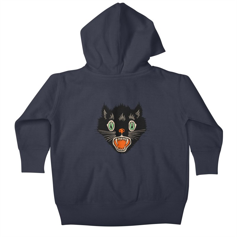 The Evil Cucumber Scared my Cat Kids Baby Zip-Up Hoody by mostro's Artist Shop