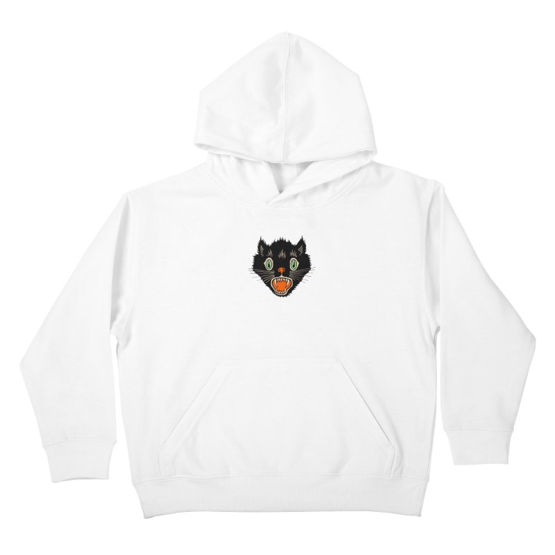 The Evil Cucumber Scared my Cat Kids Pullover Hoody by mostro's Artist Shop