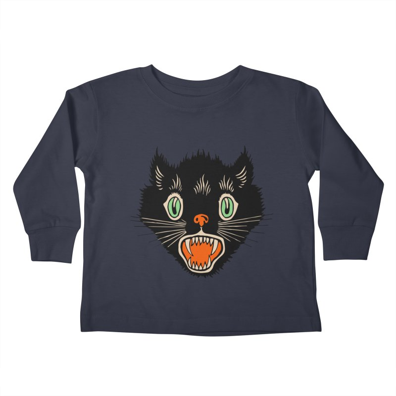 The Evil Cucumber Scared my Cat Kids Toddler Longsleeve T-Shirt by mostro's Artist Shop