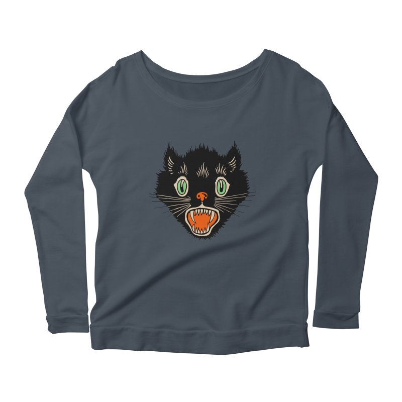 The Evil Cucumber Scared my Cat Women's Longsleeve Scoopneck  by mostro's Artist Shop