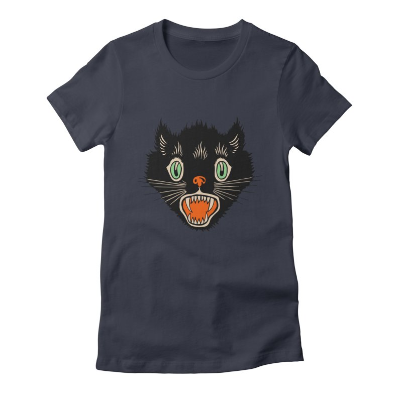The Evil Cucumber Scared my Cat Women's Fitted T-Shirt by mostro's Artist Shop
