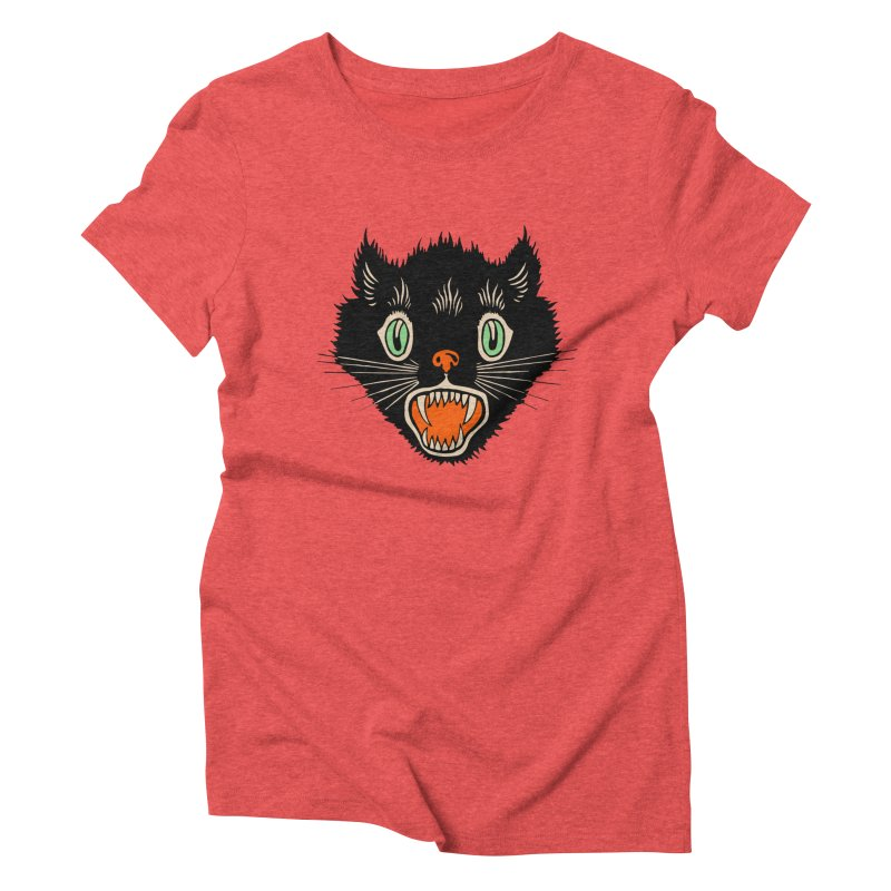 The Evil Cucumber Scared my Cat Women's Triblend T-shirt by mostro's Artist Shop