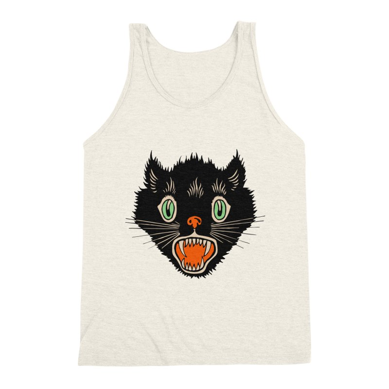 The Evil Cucumber Scared my Cat Men's Triblend Tank by mostro's Artist Shop